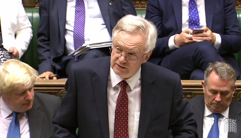 Ông David Davis, bộ trưởng Anh phụ trách Brexit đang phát biểu tại Nghị viện, ngày 05/09/2016