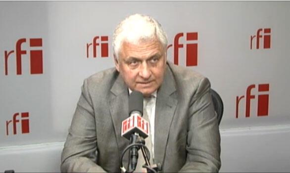 Russia's ambassador to Paris Alexander Orlov in RFI's studios