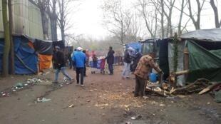 گروهی از پناهجویان که در اطراف شهر کاله با پلاستیک پناهگاه ساخته اند