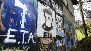 Pro-Eta graffiti in Spain - the Basque separatist organisation has renounced armed struggle but not handed over its weapons