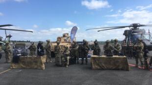 Présentation du 1er RPIMA le 13 juin dernier à Pau, dans le sud de la France.