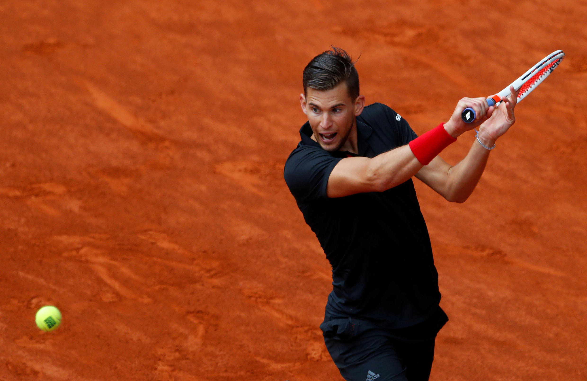 Dominc Thiem followed up his straight sets win over top seed Rafael Nadal with a 6-4 6-2 victory over the sixth seed Kevin Anderson.