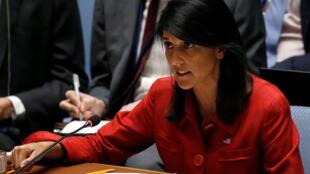 妮基哈利在聯合國會議近照