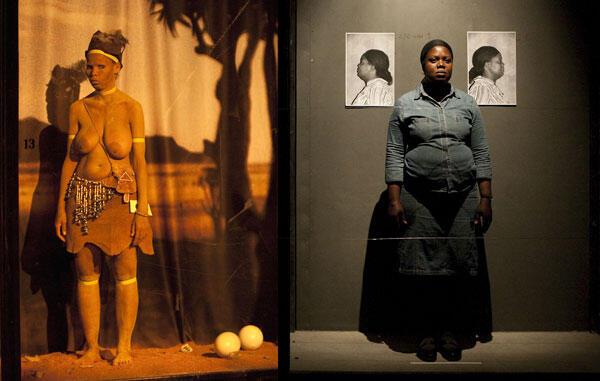 Une vue de l'installation-spectacle Exhibit de l'artiste sud-africain Brett Bailey.