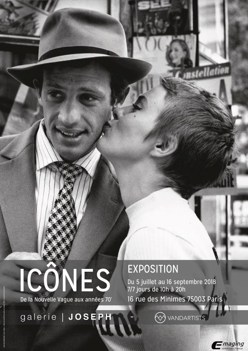 """A exposição """"Ícones, da Nouvelle Vague aos anos 70"""" fica em cartaz até o dia 16 de setembro na galeria Joseph, no 3° distrito de Paris."""