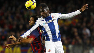 Le Congolais Thievy Bifouma lors d'un match face au FC Barcelone.