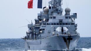 Chiến hạm Pháp Montcalm tham gia cuộc tập trận với NATO trên Địa Trung Hải ngày 13/03/2017.