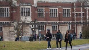 Le campus de l'Université de Princeton (New Jersey), États-Unis, en février 2020.