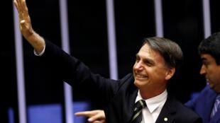 Jair Bolsonaro à Brasilia, le 6 novembre 2018.