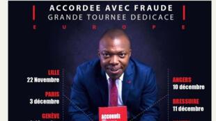 Jean-Bruno Tagne, auteur du livre «Accordée avec fraude» (capture d'écran).