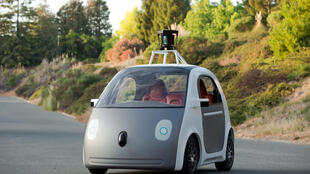 Un prototye de la voiture autonome du géant de l'internet américain Google.