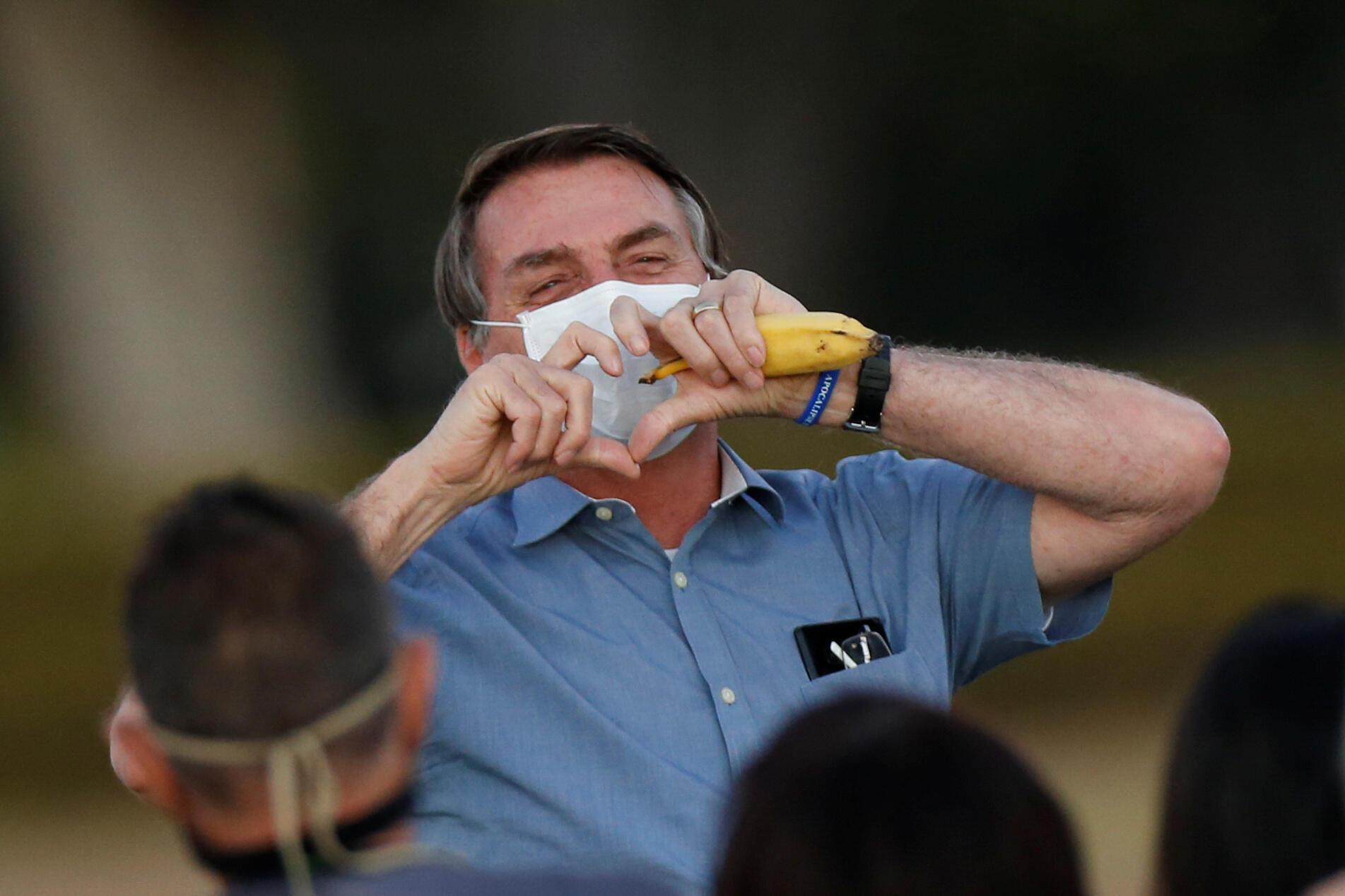 Le président du Brésil Jair Bolsonaro a annoncé être négatif au Covid-19, ce 25 juillet 2020.