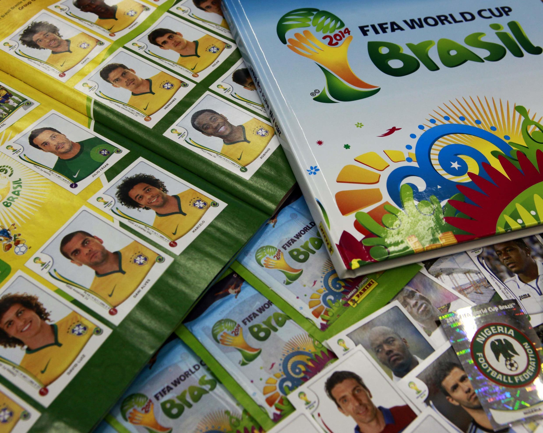 Figurinhas para o álbum da Copa do Mundo 2014.