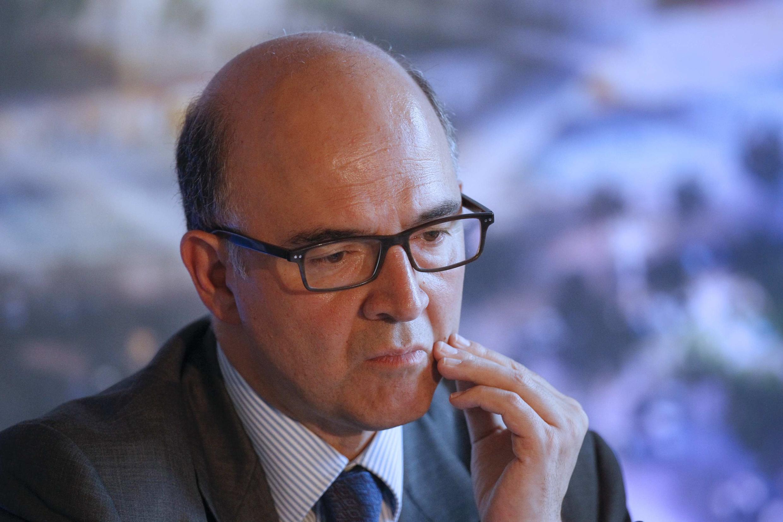 O ministro francês das Finanças Pierre Moscovici anunciou um crescimento abaixo do previsto.