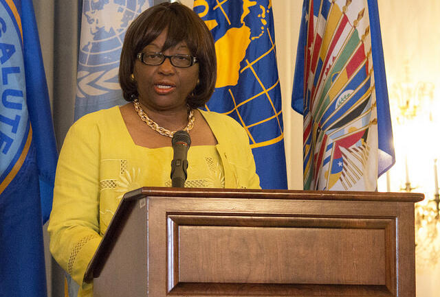 Carissa F. Etienne, directora de la Organización Panamericana de la Salud, durante el lanzamiento de la alianza interamericana.
