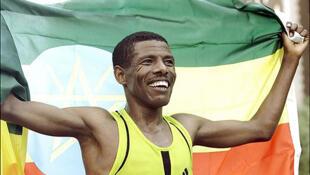 O fundista etíope Hailé Gebréselassié.