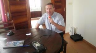 Thierry Van Cayseele, directeur général de Damco, filiale à  Lomé au Togo du groupe de transport international Maersk.