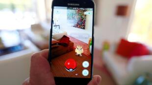 Pokemon Go, un jeu de réalité augmentée produit par Nintendo. Ici à Palm Springs en Californie.
