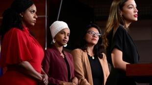 Alexandria Ocasio-Cortez (Nueva York), Ilhan Omar (Minnesota), Ayanna Pressley (Massachusetts) y Rashida Tlaib (Michigan) forman parte de esas nuevas caras que permitieron a los demócratas retomar el control de la cámara baja del Congreso.