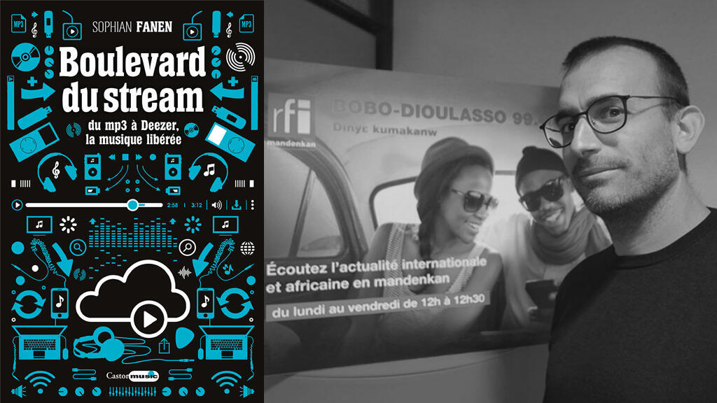 """Première de couverture de """"Boulevard du Stream"""" et Sophian Fanen à RFI."""
