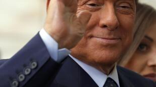 O ex-primeiro-ministro italiano, atualmente no Senado, Silvio Berlusconi.