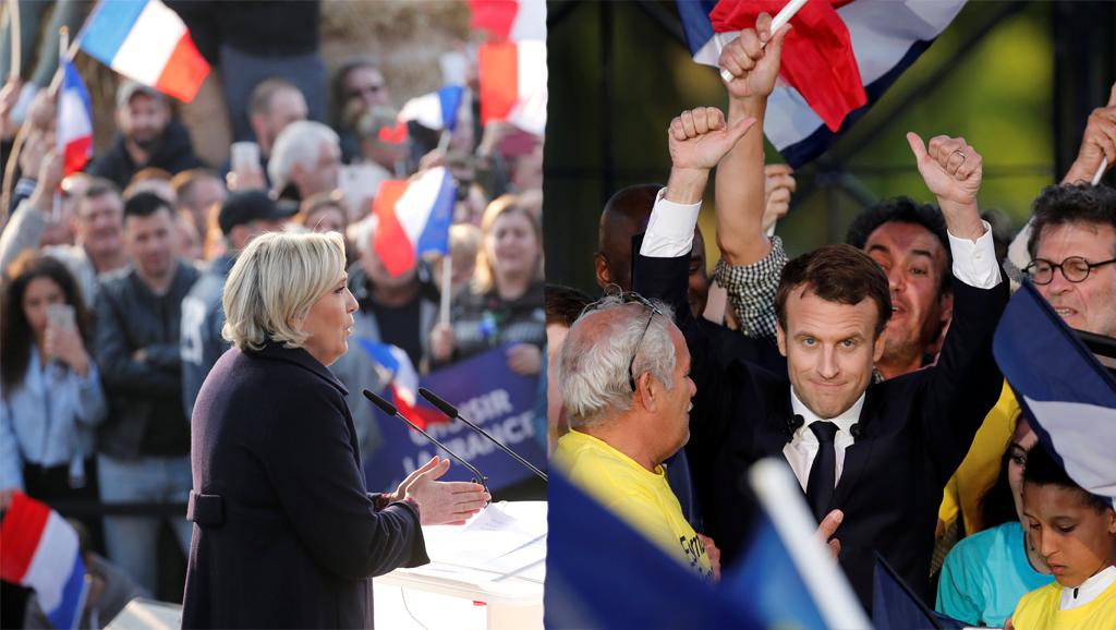 Les deux candidats en meeting: Marine Le Pen dans la Somme et Emmanuel Macron à Albi.