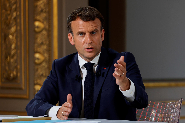 法國總統馬克龍資料圖片
