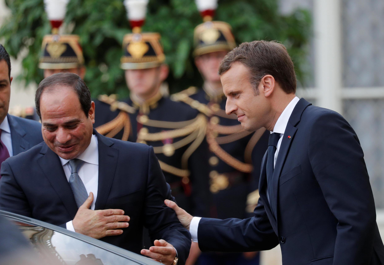 Emmanuel Macron et Abdel Fattah al-Sissi le 24 octobre 2017 à l'Elysée.