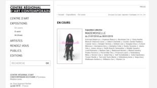 Capture d'écran du site du Centre régional d'art contemporain (CRAC).