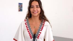 L'artiste syrienne Miryam Haddad à Avignon.