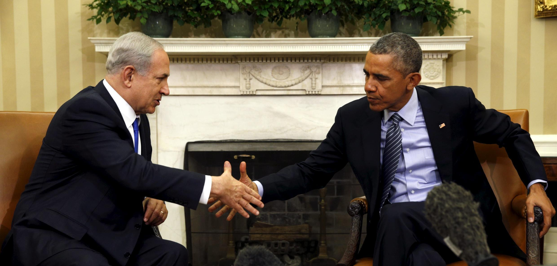 Tổng thống Mỹ Barack Obama tiếp Thủ tướng Israel Benjamin Netanyahu tại Phòng Bầu Dục của Nhà Trắng, Washington, ngày 09/11/2015.