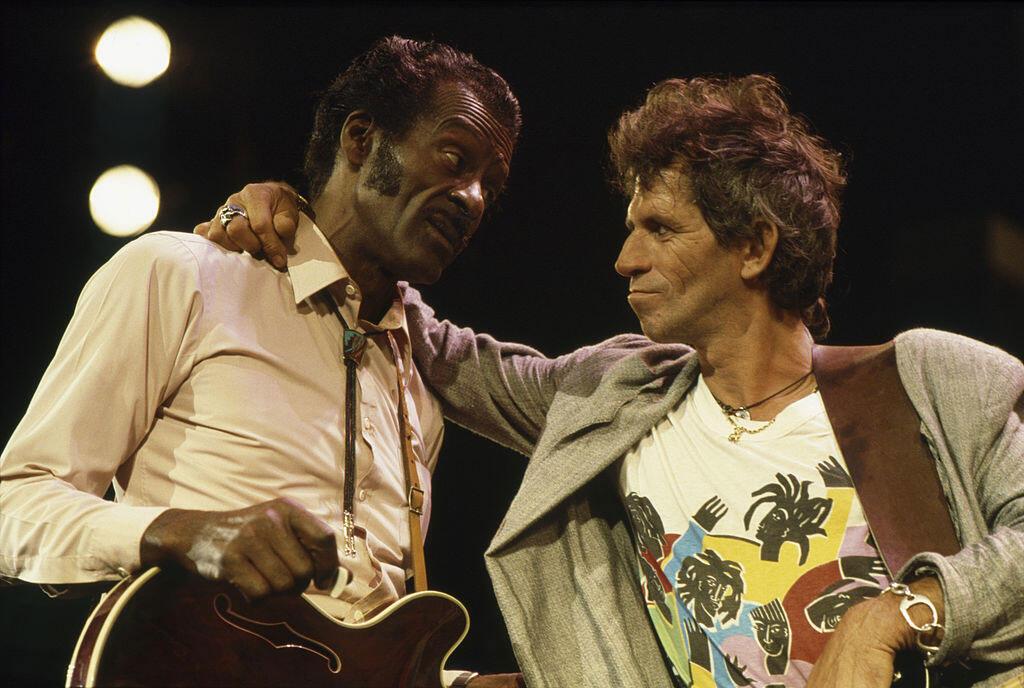 Chuck Berry et Keith Richards.