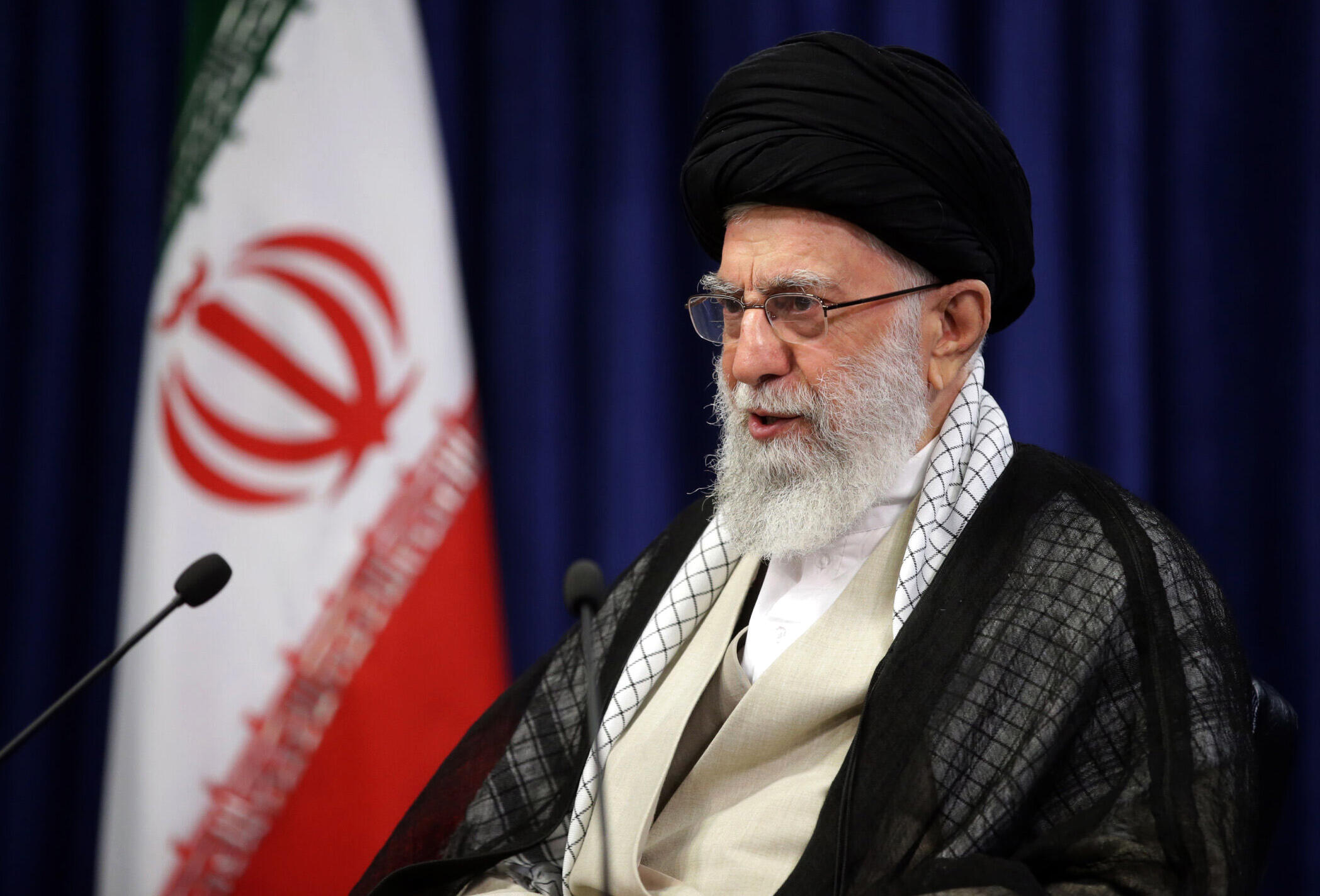 Iran's Supreme Leader Ayatollah Ali Khamenei speaks on television on Friday, in a handout picture provided by his office