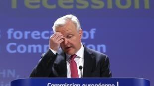 Le Commissaire européen aux Affaires économiques Olli Rehn, le 3 mai à Bruxelles.