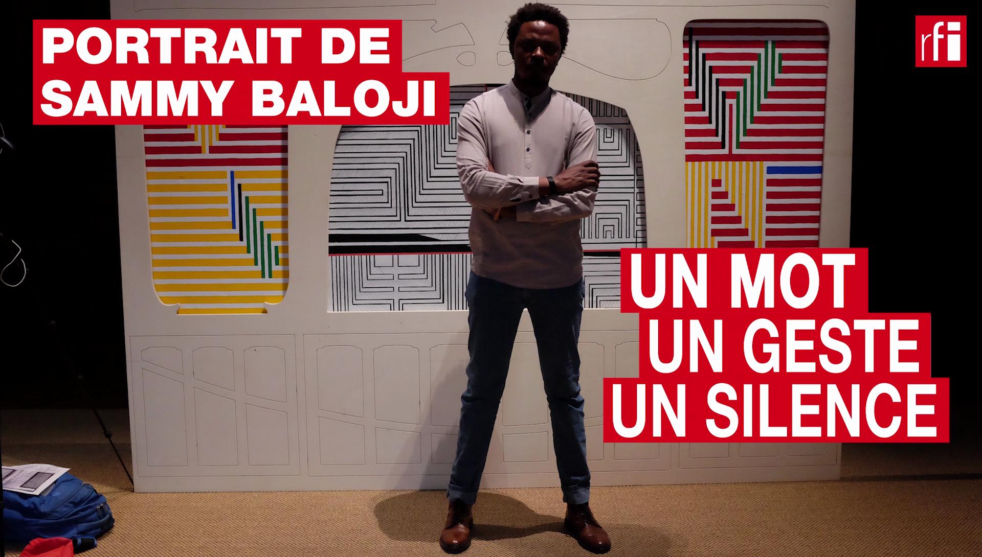 Portrait de l'artiste plasticien congolais Sammy Baloji en un mot, un geste, un silence.