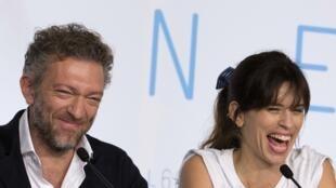 La scénariste et réalisatrice française Maïwenn (g) et Vincent Cassel(d).