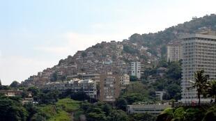 The favela Vidigal in Rio de Janeiro