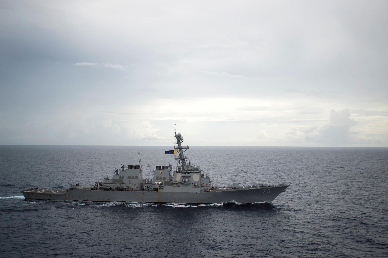 Chiến hạm Mỹ USS Decatur tuần tra Biển Đông. Ảnh chụp ngày 13/10/2016.
