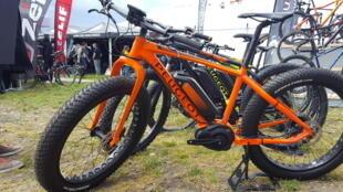 Le constructeur Peugeot a enrichi sa gamme de plusieurs nouveaux modèles à assistance électrique, dont cet imposant «fatbike».