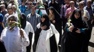 تشییع جنازه قربانیان حملات تهران