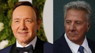 Dustin Hoffman (esq.) junta-se à lista de famosos acusados de assédio sexual, como o ator Kevin Spacey.