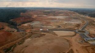 Vue aérienne du site de Nkok au Gabon