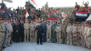 伊拉克总理Haider al-Abadi宣布摩苏尔战役胜利2017年7月10日