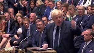 Thủ tướng Anh Boris Johnson phát biểu tại Nghị Viện, Luân Đôn, ngày 03/09/2019