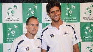 Os tenistas brasileiros Bruno Soares e Marcelo Melo.
