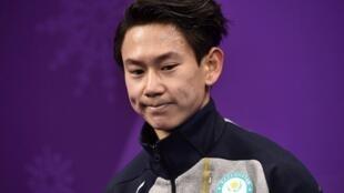 Фигурист Денис Тен на Олимпиаде в корейском Пхёнчхане, 16 февраля 2018.