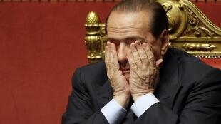 Silvio Berlusconi has seen his popularity ratings plummet since the scandal broke