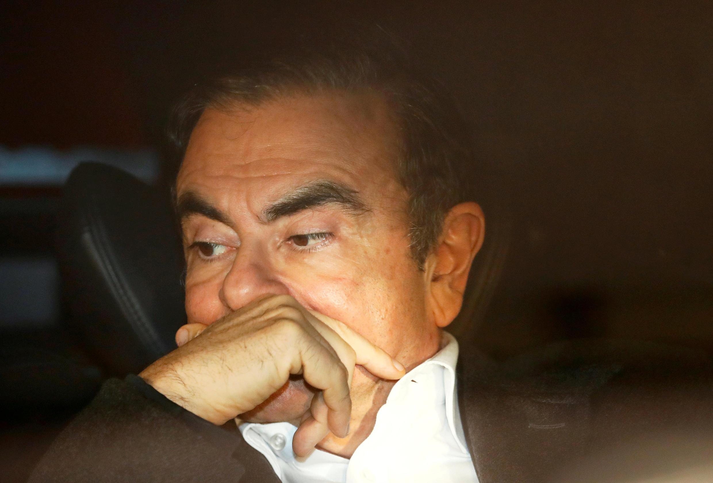 Photo de Carlos Ghosn prise le 6 mars dernier à Tokyo, après sa libération.