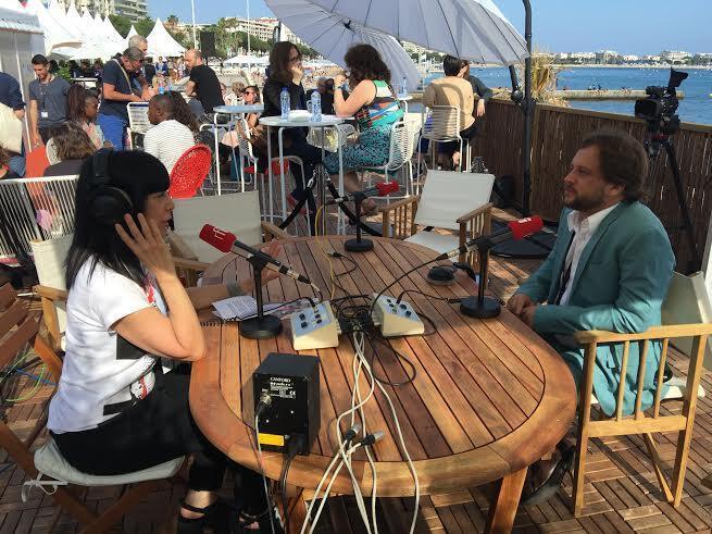 O cineasta Eryk Rocha em entrevista à RFI Brasil em Cannes.