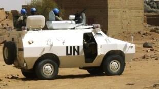 Patrouille de l'ONU à Kidal, le 17 juillet 2013.